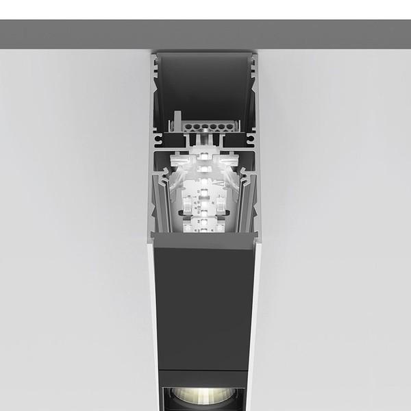 Artemide Architectural A.39 Suspension/Ceiling 2x4 optics, DOWN, DALI - Sharping Emission AR BH05104 Black