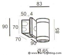 Bel Lighting Bia BL 930.GU.00 aluminium