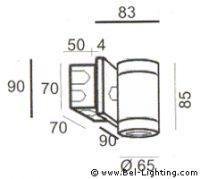 Bel Lighting Bia BL 930.GU.09 bronze