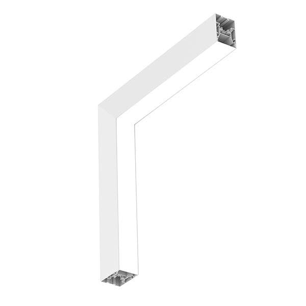 Flos Architectural In-Finity 70 Recessed No Trim Micro-Prismatic Diffuser Dihedral Corner AN N70NDC3U30B White
