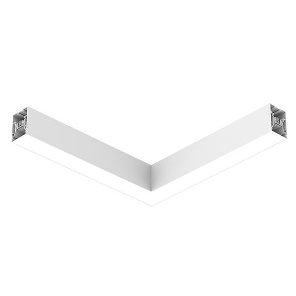 Flos Architectural In-Finity 70 Recessed No Trim Micro-Prismatic Diffuser Flat Corner AN N70NFC3U30B White