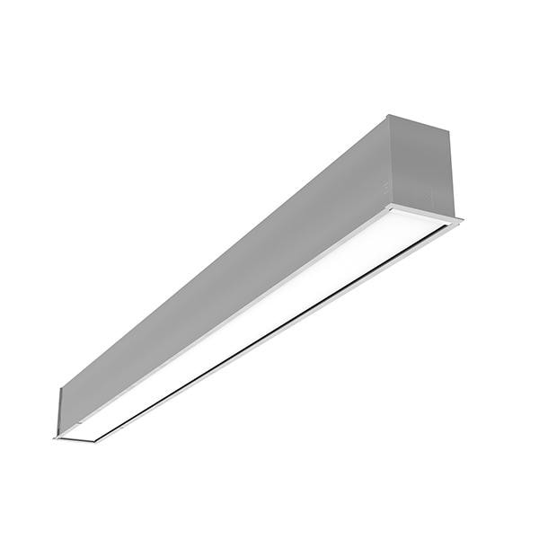 Flos Architectural In-Finity 70 Recessed Trim Micro-Prismatic Diffuser AN N70T144U02B Silver
