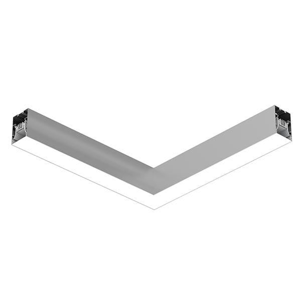 Flos Architectural In-Finity 70 Surface General Lighting Flat Corner AN N70SFC4G02B Silver