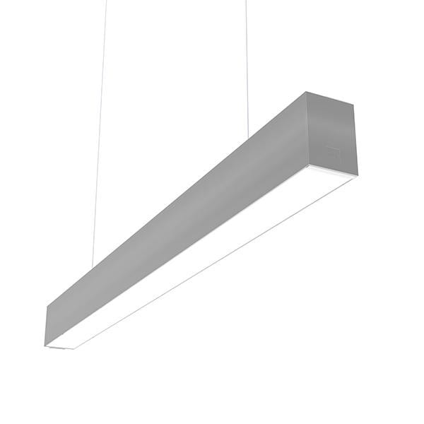 Flos Architectural In-Finity 70 Suspension Down Micro-Prismatic Diffuser AN N70D113U02B Silver