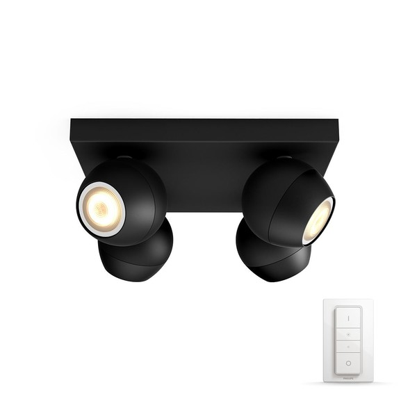 Philips Hue Buckram White Ambiance Spotlight 4x (dimmer incl.) MA 5047430P7 Black