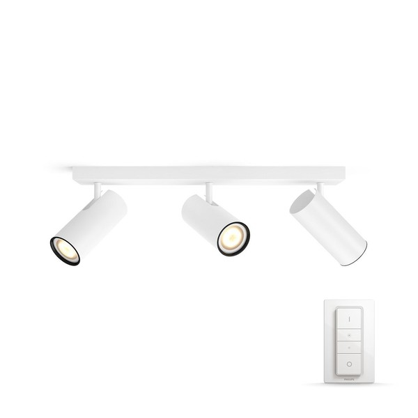 Philips Hue Buratto White Ambiance Spotlight 3x (dimmer incl.) MA 5046331P7 White
