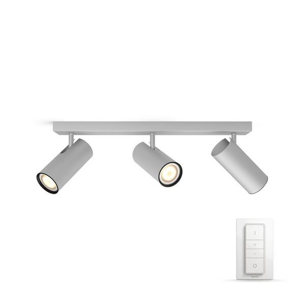 Philips Hue Buratto White Ambiance Spotlight 3x (dimmer incl.) MA 5046348P7 Aluminium