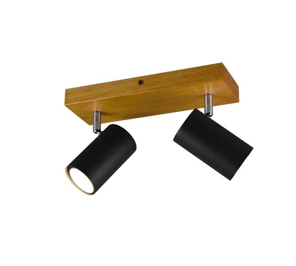 Trio Marley Spot 2 TR 812400232 Matted black / Wood