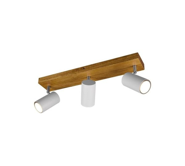 Trio Marley Spot 3 TR 812400331 Matted white / Wood